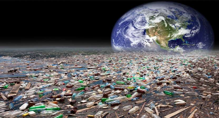 Image Rendering Of A Globe Made Trash Useful For Green S