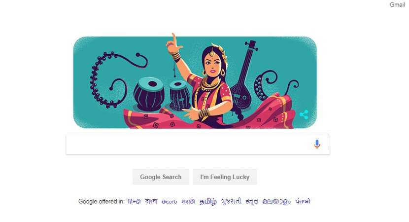 Google doodle celebrates Kathak legend Sitara Devi's birthday