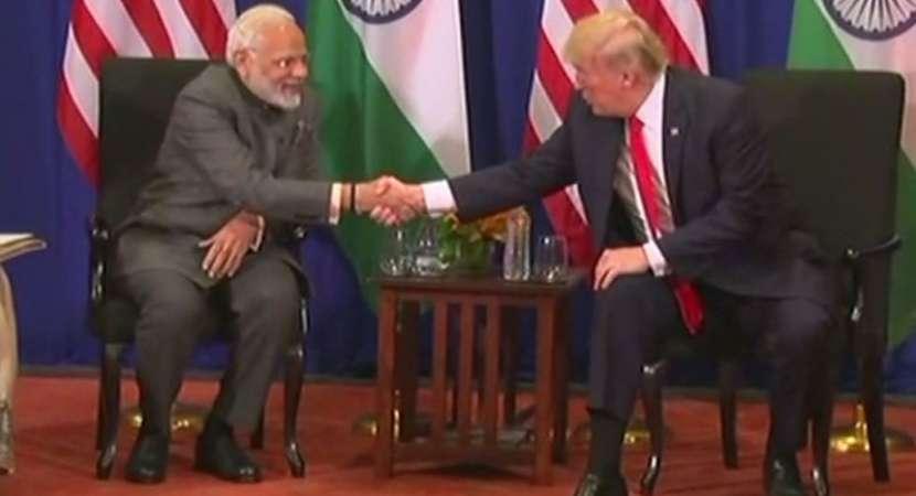 Prime Minister Narendra Modi holds talks with Donald Trump in Manila