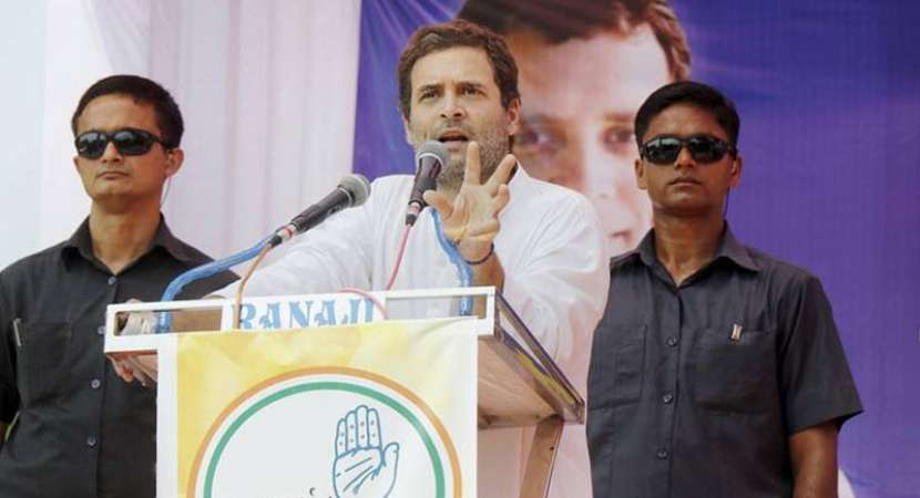 Gujarat Elections: Rahul Gandhi addressing a rally