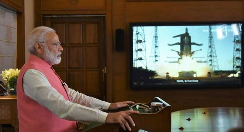 PM Modi congratulates ISRO for successful 100th satellite launch