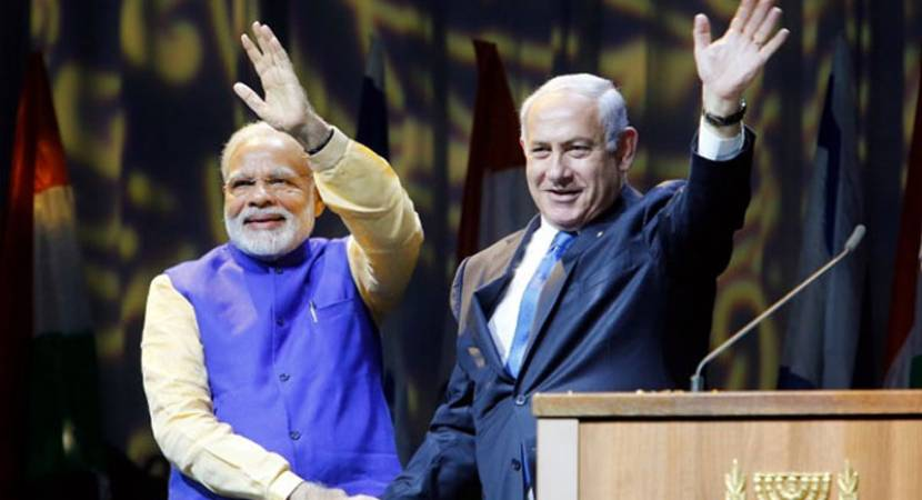 Narendra Modi-Netanyahu roadshow in Gujarat on January 17