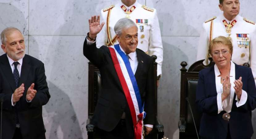 Sebastian Pinera sworn in as Chile's president