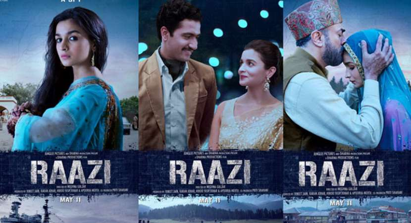 Raazi Posters: Alia Bhatt as daughter, wife and a spy; trailer today