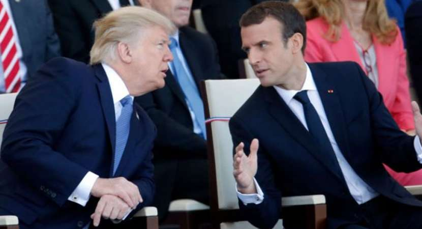 Macron, Trump discuss alleged gas attack in Syria over phone
