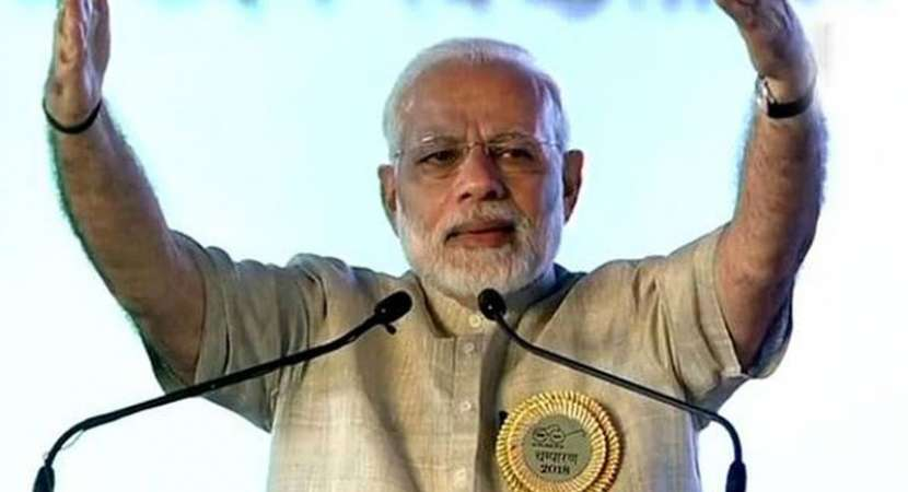 PM Narendra Modi blasts opposition for 'dividing' the country