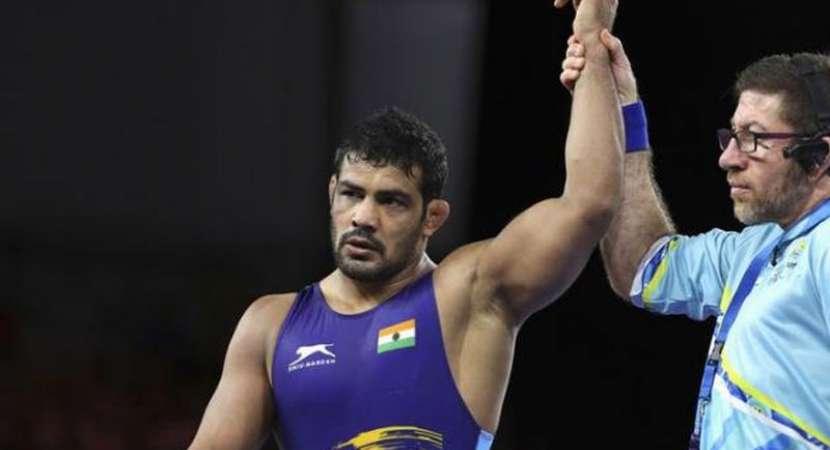 Wrestler Sushil wins gold in men 74 kg category