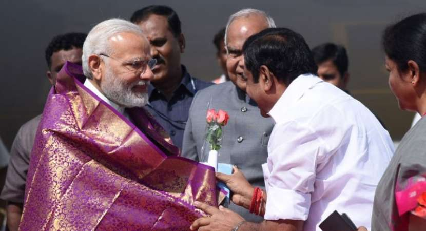 PM Modi arrives in TN amid Cauvery row
