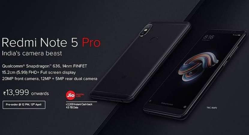 Redmi Note 5 Pro pre-order sale to begin today at mi.com