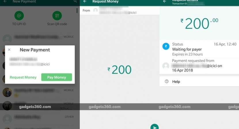 Users can request money from contacts in WhatsApp