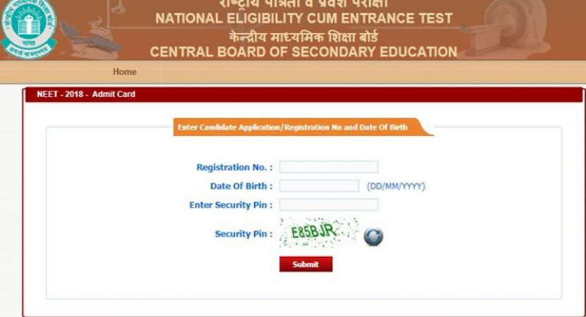 CBSE NEET 2018: Admit cards released, check exam dates and other details