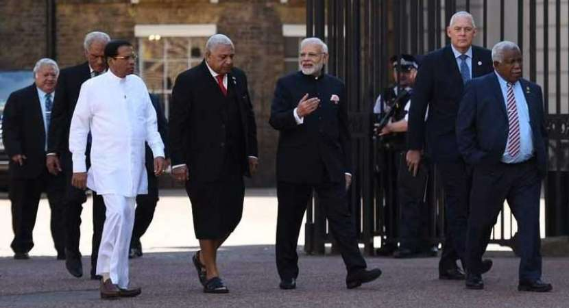 Modi meets leaders of Commonwealth nations on sidelines of CHOGM