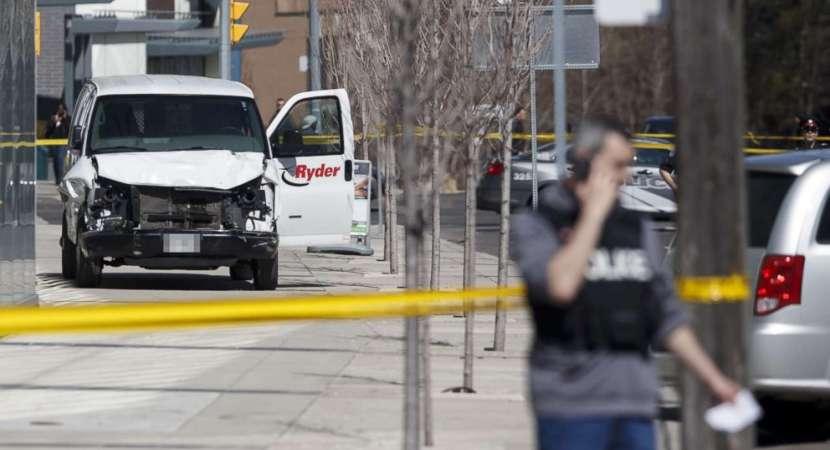 9 killed after van plows into Toronto pedestrians