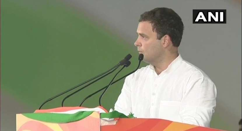 Rahul Gandhi tears into Narendra Modi at Jan Akrosh rally in today, says he speaks lies( Photo: ANI Twitter)