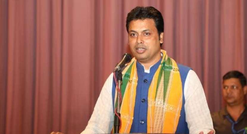 Tripura CM Biplab Deb in Delhi in first week of May for various meetings