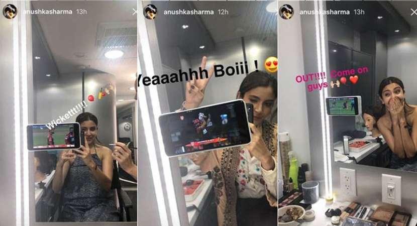 Anushka cheers for Virat from 'Zero' set