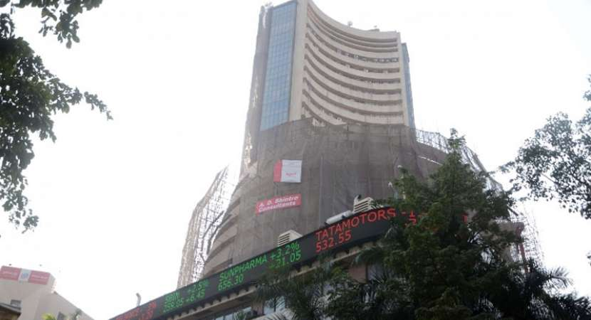 Sensex ends lower; state election outcome weighs