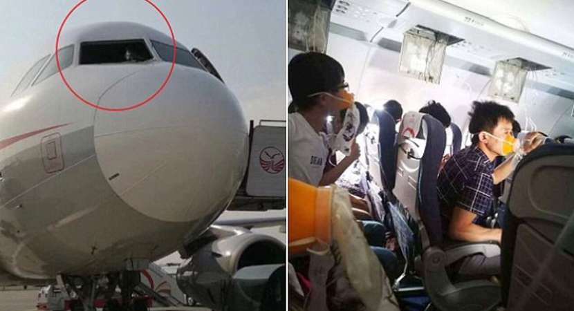 Sichuan Airlines Co-Pilot Sucked Halfway Out Of Broken Windshield