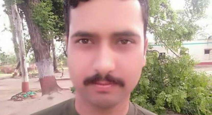 BSF constable Sita Ram Upadhyay was killed in Pakistani fire on Friday morning. Upadhyay had joined the force in 2011.((ANI/Twitter))