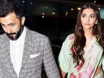Anand Ahuja picks up wife Sonam Kapoor at Mumbai Airport