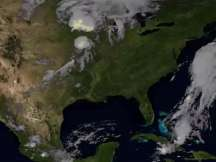 Satellite records stunning lightening from space video