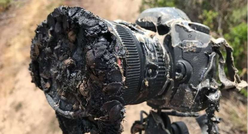 NASA's camera melted during Falcon rocket launch, but photos survived