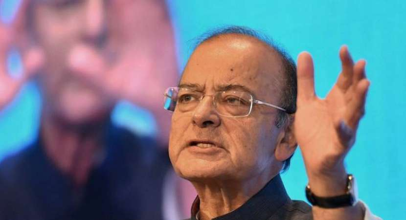 Finance Minister Arun Jaitley hits back at Congress president Rahul Gandhi with negation to what the latter had said at a public address in Mandsaur