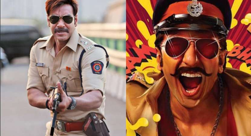 """Ranveer Singh shared the first look from his film Simmba and captioned the photo, """"Rohit Shetty Ka hero. Caps Lock mein."""""""