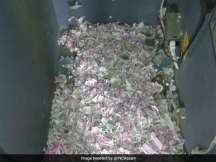 Pictures of the shredded notes inside the ATM have left Twitterati stunned