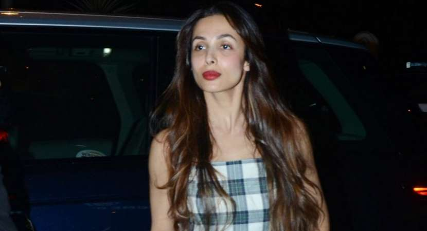 Malaika Arora has been spotted in a checked green jumpsuit, in which she looked amazingly beautiful