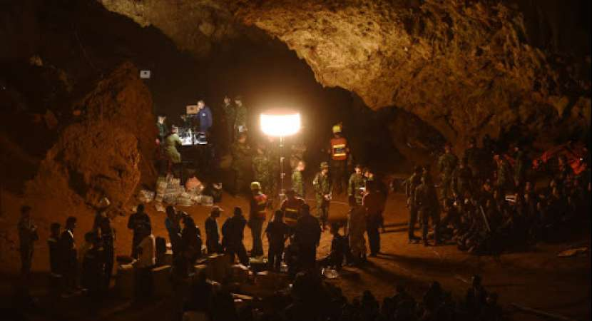 All 12 boys, football coach rescued from flooded Thailand cave