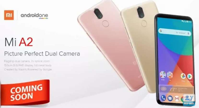 Xiaomi is likely to offer Mi A2 in three color variants like Gold, Blue or Black with over the single choice of 4/64 GB configuration