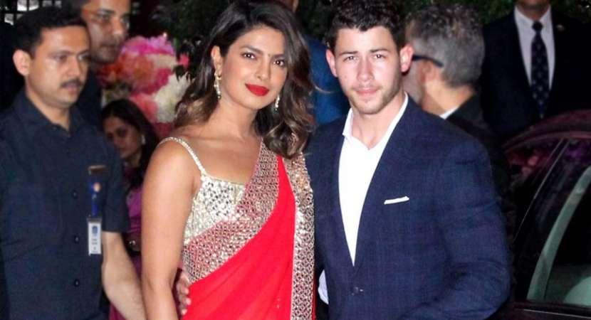 Priyanka and Nick Jonas in Ambani party