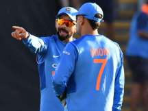 Virat Kohli and Mahendra Singh Dhoni during ODI series