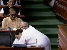 Rahul Gandhi takes cue from Narendra Modi's Hugplomacy: Twitter abuzz