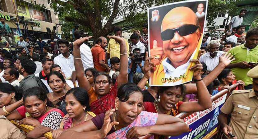 Madras High Court to decide on burial site for Karunanidhi's body