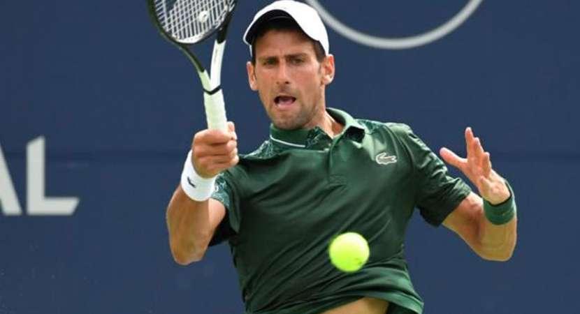 Novak Djokovic wins opener in Rogers Cup