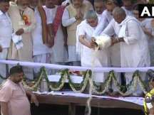 Atal Bihari Vajpayee's ashes immersed in Haridwar