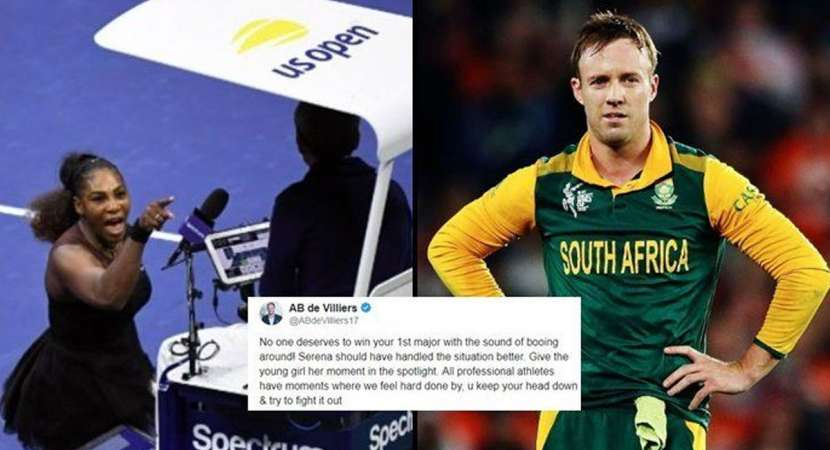 AB de Villiers disapproves Serena Williams' action at Naomi's moment of glory at US Open