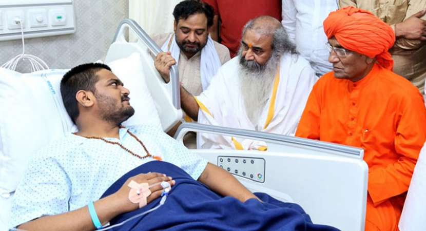 Hardik Patel continues hunger strike from hospital