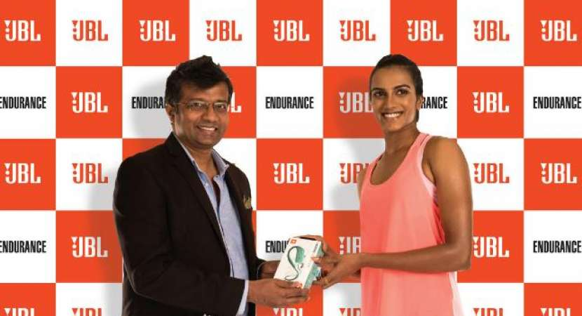 Olympics medalist and Indian Badminton Champion, PV Sindhu, is the brand ambassador of the JBL Endurance earphones