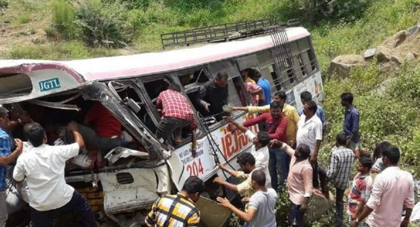 45 including six children dead in Telangana as TSRTC bus falls into gorge