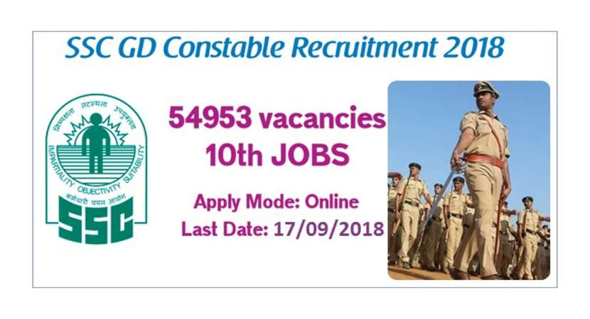 SSC Recruitment 2018: Check application last date for constable post